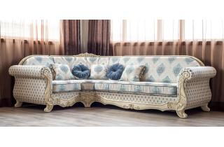 Мебус Лира угловой диван (белое дерево)