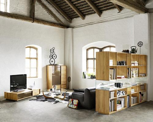 Разделение на функциональные зоны с помощью мебели
