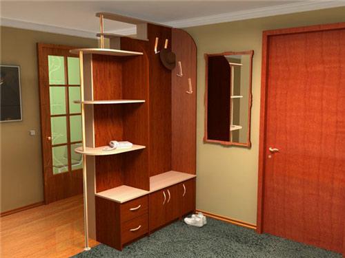 Разделение квартиры на функциональные зоны мебелью