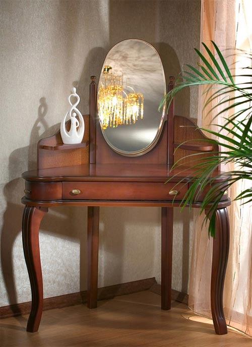 Угловой туалетный столик - мебель для спальни серии Екатерина