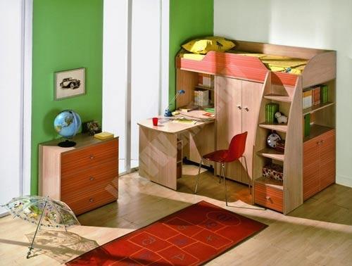 Детская модульная мебель со спальным местом - оригинальное решение