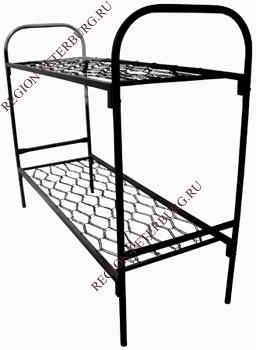 пример двухъярусной металлической кровати производства ООО «Регион-Петербург»