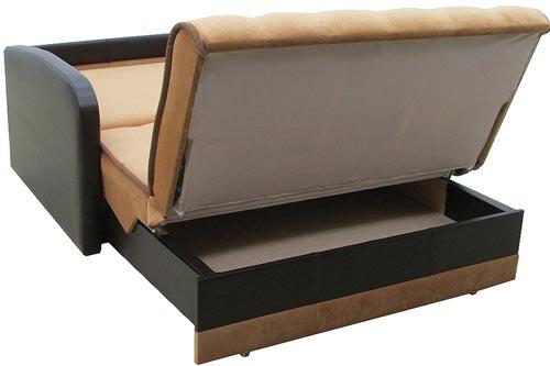 Диван-аккордеон с ящиком для белья